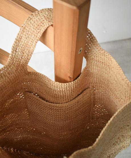bag2-02514 透かし柄 ラフィア かご バッグ