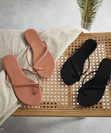 nh-shoes-02101 クロストングサンダル ブラック コーラルベージュ