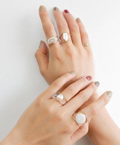 mb-ring2-02001 淡水パール オリジナルリング 12号 日本製 ハンドメイド ☆ WA04