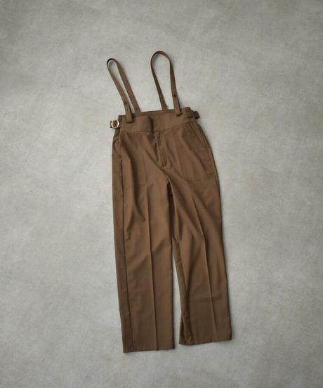 bottoms-07012 サスペンダーパンツ ブラウン ブラック