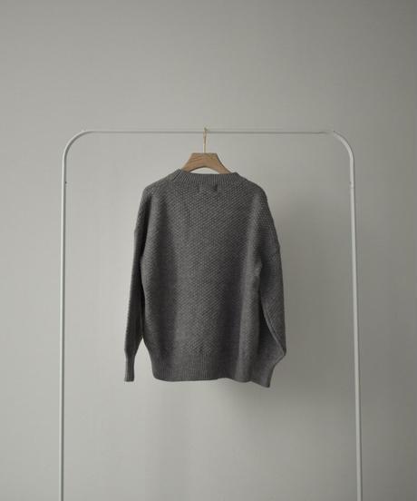 11月上旬入荷分 予約販売 knit-02140 クルーネック ニット プルオーバー グレー