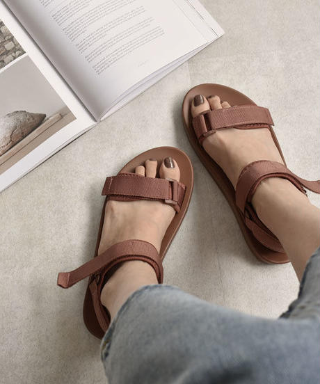 shoes-02078 スポーツサンダル アプリコットブラウン