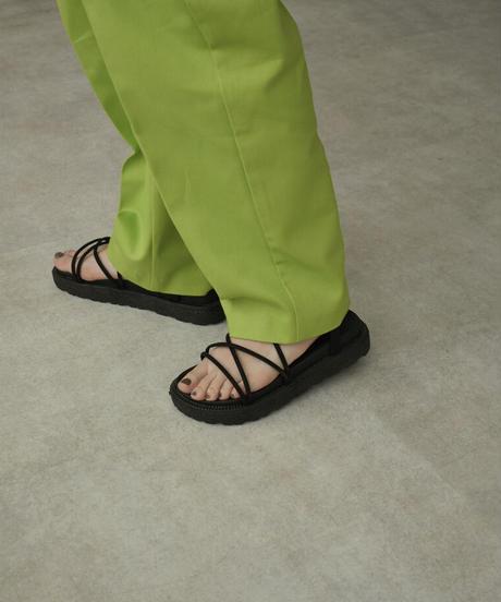 shoes-02132 コードストラップ サンダル ブラック