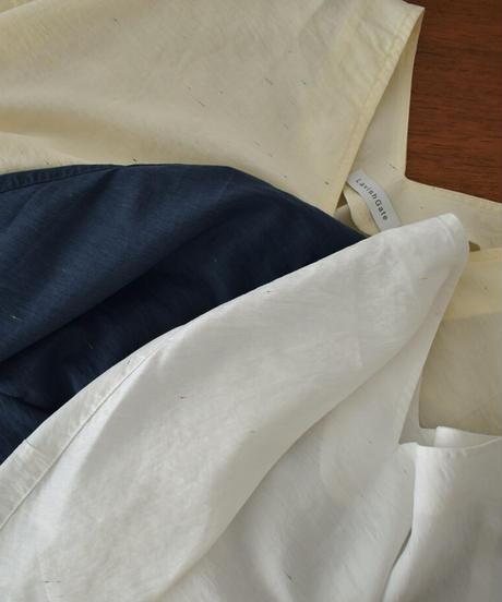 nh-tops-02228 カラーネップ Vネックブラウス ホワイト クリーム ネイビー