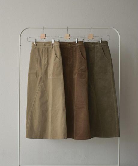 12月上旬入荷分 予約販売 bottoms-07004 コーデュロイ フレアロング スカート オリーブ ブラウン ベージュ