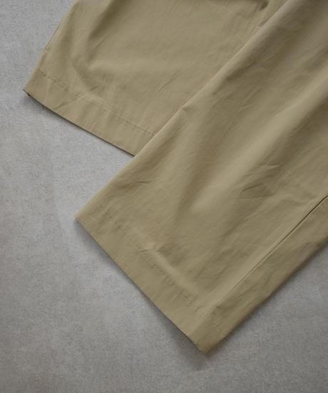 bottoms-02068 サイドボタン タック ワイドパンツ ベージュ