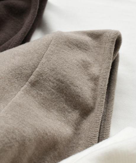 tops-04014 日本製 吸湿発熱素材バックオープン長袖トップス バックオープンブラトップ付き モカ ブラウン  ホワイト ブラック
