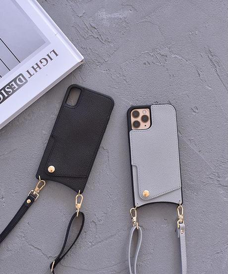 nh-iphone-02570 フェイクレザー ショルダー付き カード収納  iPhoneケース