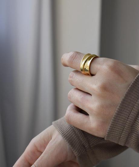 mb-ring2-02132 SV925 スムース ワイドリング シルバー925 ゴールド