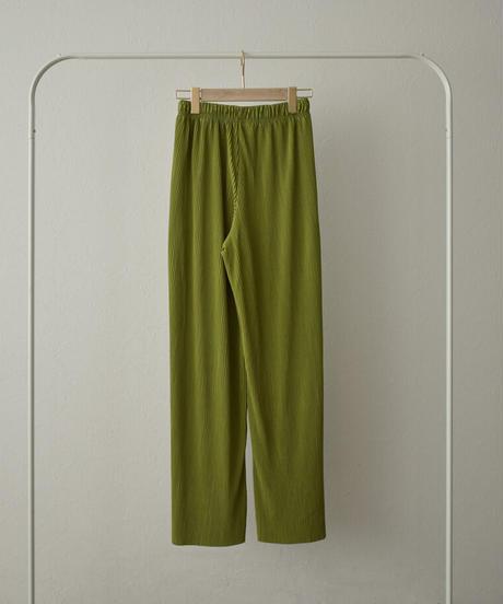nh-bottoms-02118 カラー プリーツ パンツ モカ モカベージュ テラコッタ ミント グリーンティー ブラック