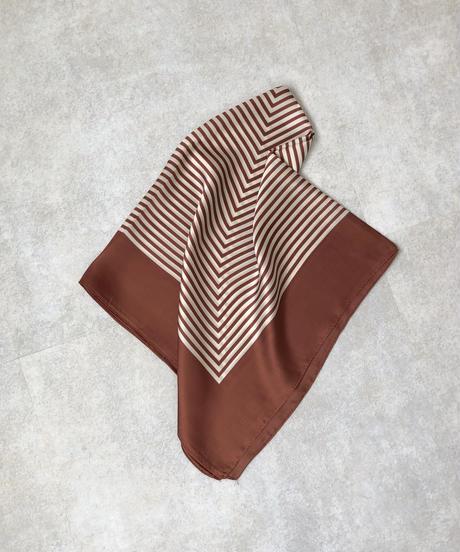 mb-scarf-02010 ストライプ柄スカーフ ブラウン