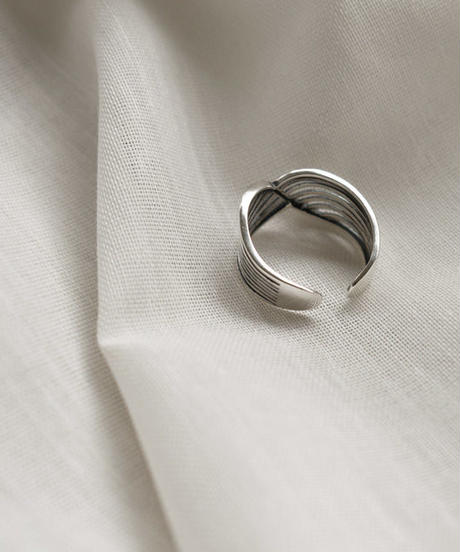 mb-ring2-02098 SV925 ウェーブデザインリング シルバー925