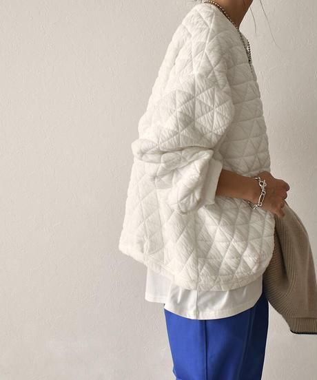 11月上旬~11月中旬入荷分 予約販売 tops-02268 キルティングスウェット ホワイト ブラック