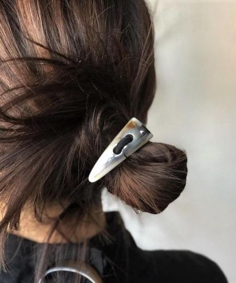mb-hair2-02002 マーブルバッファローホーンヘアゴム   ☆WA04