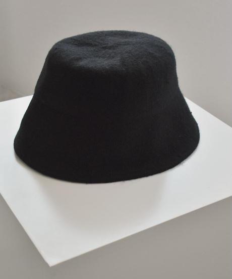 nh-cap-02037 ウール バケットハット ブラック
