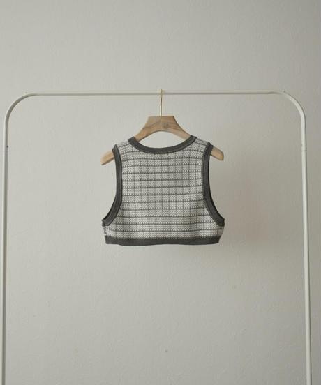 knit-02132 ジャガードニットビスチェ グレー ネイビー