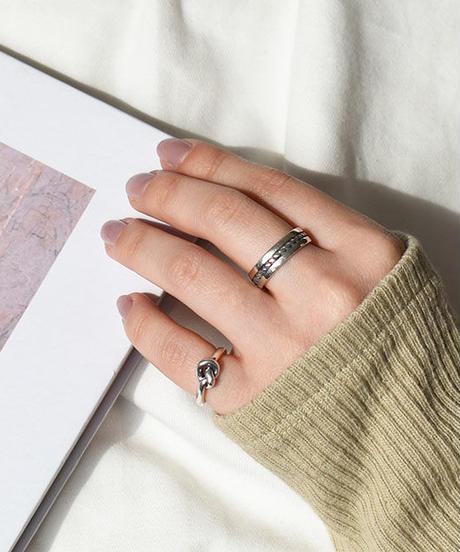 mb-ring2-02120 SV925 ノットデザイン ピンキーリング   シルバー925