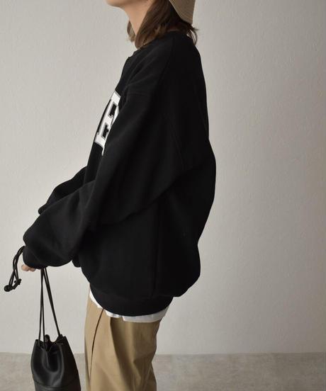 tops-02192 裏起毛 ヴィンテージライク ロゴスウェットプルオーバー ホワイト グレー ブラック
