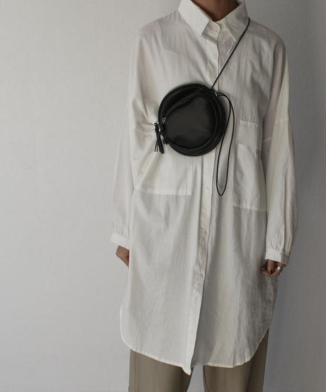 nh-bag2-02483 エコレザー ラウンドミニポシェット ショルダーバッグ