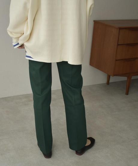 bottoms-04042 日本製 カラータックパンツ オレンジ ダークグリーン マスタード ダスティパープル ターコイズ