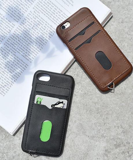 mb-iphone-02440 フェイクレザー カード収納付き iPhoneケース