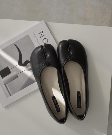 shoes-02121 エコレザー 足袋 バレエ シューズ ブラック