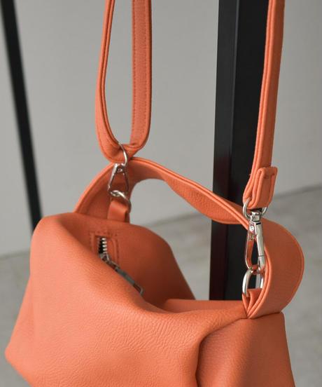 bag2-02558 ミニボックス ショルダーバッグ ホワイト オレンジ ブラック