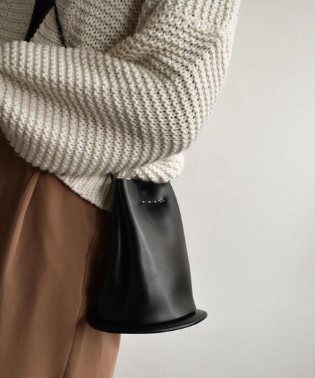 bag2-02404 本革 アウトドアロープ バケツバッグ ハンドバッグ ショルダーバッグ
