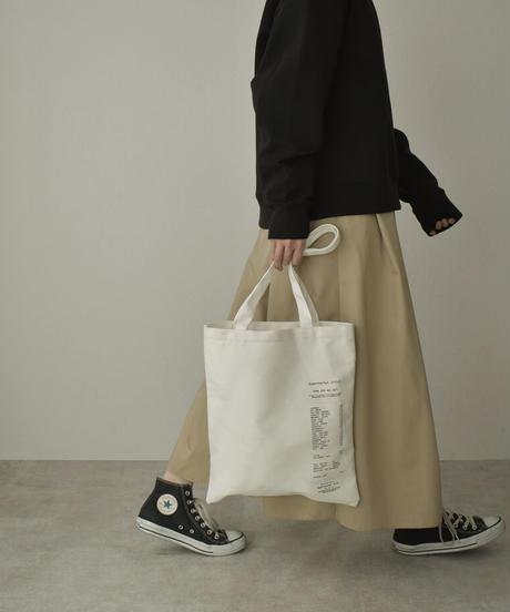 nh-bag2-02563 レシートデザイン トートバッグ ホワイト ブラック