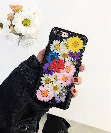 mb-iphone-02456 押し花 フラワー iPhoneケース