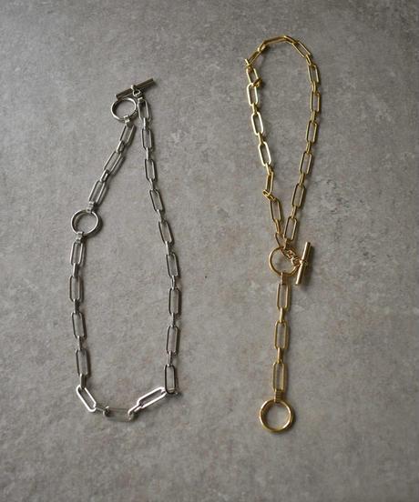 mb-necklace2-02039 日本製  クリップチェーン マンテルネックレス シルバー ゴールド ☆WA04