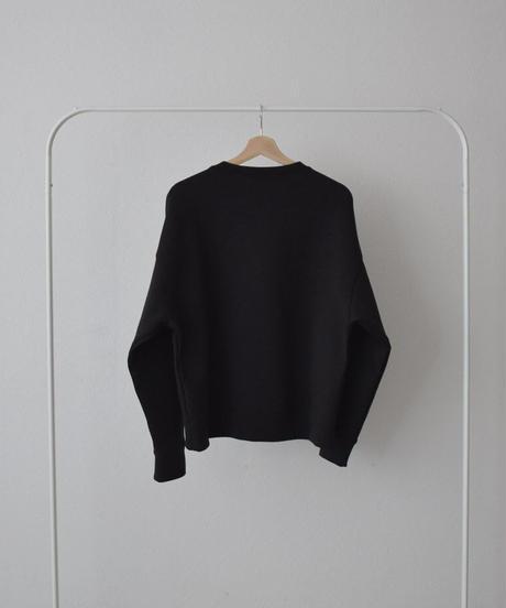 tops-02204 ダンボールスウェットプルオーバー ブラック