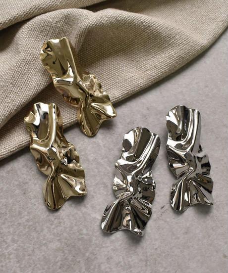 nh-pierce2-02234 クランブル ロングスクエア スタッドピアス ゴールド シルバー