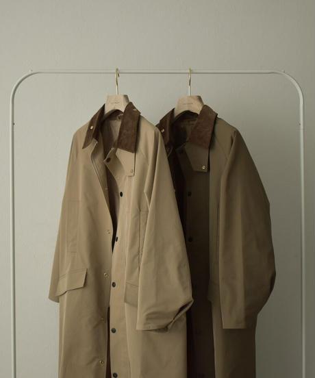 10月中旬入荷分 予約販売 coat-13001  撥水 ステンカラーコート ベージュ カーキ