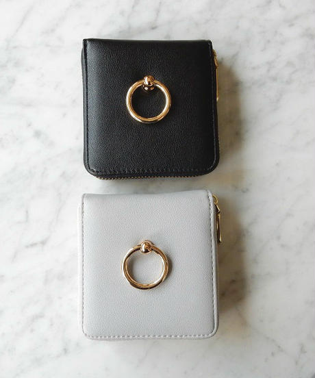wallet-02023 ゴールドリング付き ミニ財布 小銭入れ付き  ミニウォレット