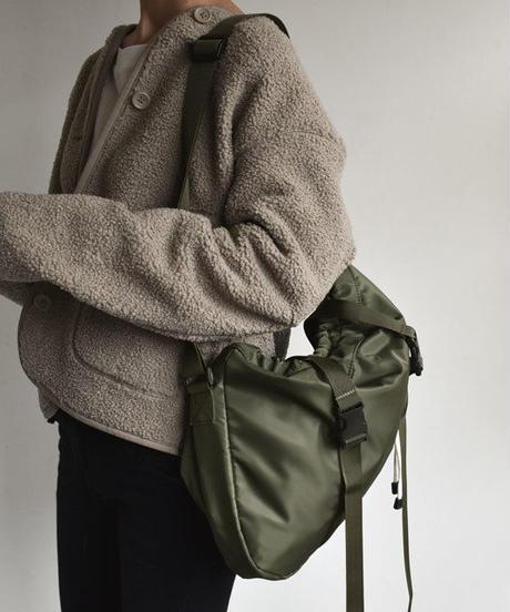 bag2-02420 ミリタリー 巾着ショルダーバッグ サコッシュ