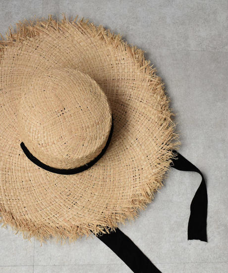 cap-02014 ラフィア あご紐 カンカン帽