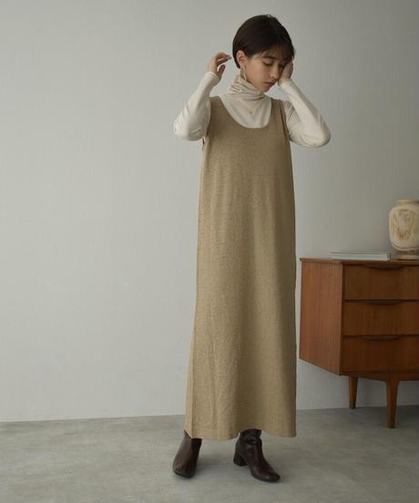 onepiece-09001 ニット タンク ワンピース モカベージュ