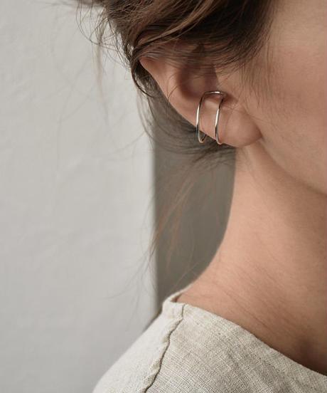 mb-earcuff-02007 SV925 2連イヤーカフ シルバー925