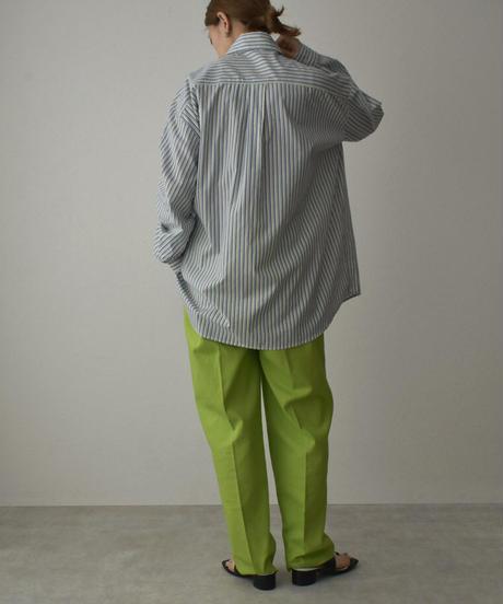 tops-02225 マルチストライプ 変形シャツ ネイビー×グリーン ブルー×イエロー