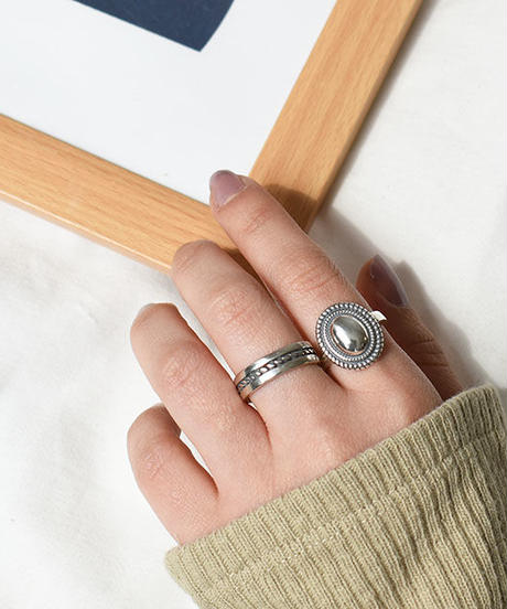 mb-ring2-02122 SV925  ネイティブコンチョリング シルバー925
