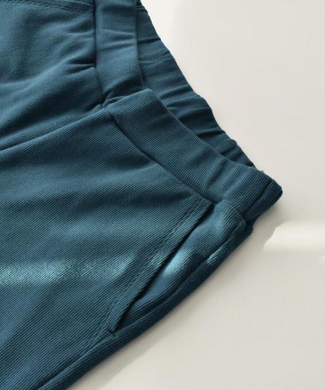 モカベージュ・ターコイズのみ3月上旬から3月中旬入荷分 予約販売 bottoms-04040 日本製 コットンリブ スリットパンツ モカベージュ イエロー ターコイズ