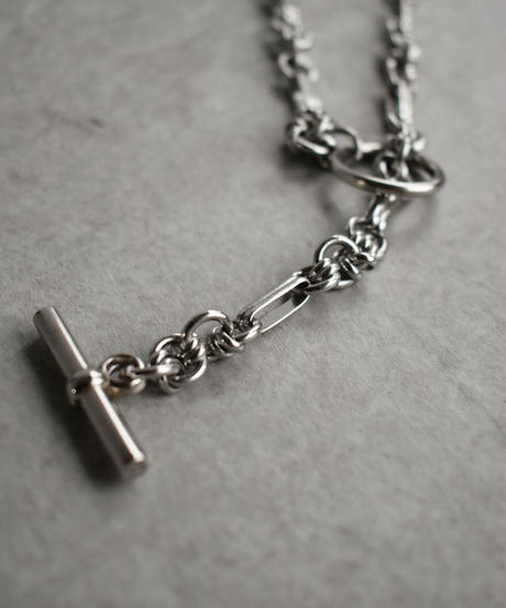 mb-necklace2-02040 日本製  ジョイントマンテルネックレス シルバー ☆WA04