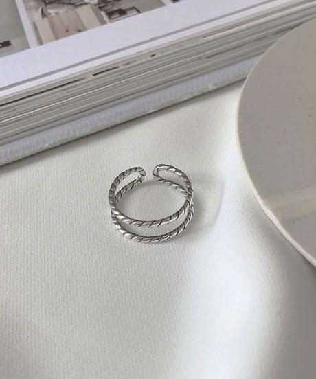 mb-ring2-02111 SV925 ダブルライン リング  シルバー925