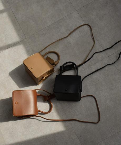bag2-02535 ボックス ショルダーバッグ ハンドバッグ ブラック キャメル ベージュ