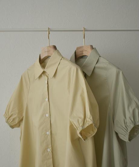 tops-02249 バルーン スリーブ シャツ クリーム ライトカーキ