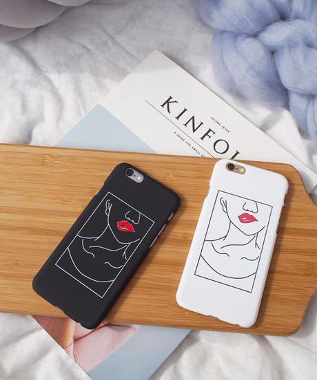 mb-iphone-02401 イラスト風 デザイン リップ iPhoneケース