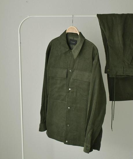 outer-02034 コーデュロイ オーバーサイズジャケット グリーン