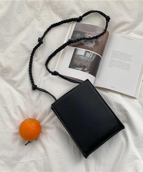 bag2-02458 ロープショルダースクエアバッグ グレージュ ブラック ホワイト ヌードカラー