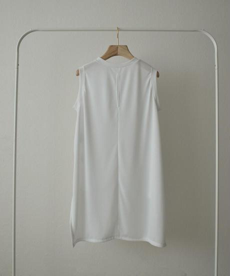 nh-tops-04100 日本製 UVカット 吸水速乾 シアーノースリーブトップス ホワイト
